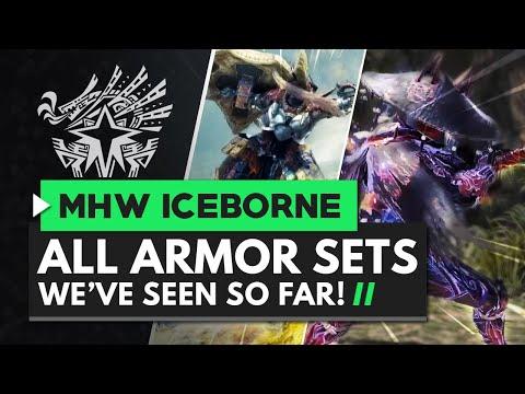 Monster Hunter World Iceborne | All Master Rank Armor Sets We've Seen So Far