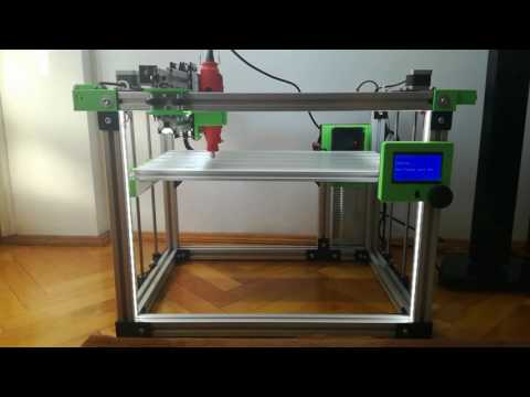 3 in 1 CNC milling + 3D Printer + Laser Cutter - Homemade Mega + Ramps 1.4 + Repetier