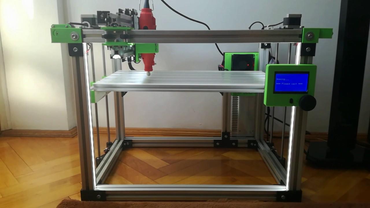 3 In 1 Cnc Milling 3d Printer Laser Cutter Homemade