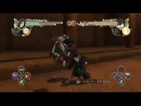 Naruto Storm 2 Orochimaru (Jiraiya & Tsunade) Vs. Taka Sasuke (Itachi & Kisame)
