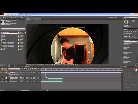 (Spanish) Tutorial de la Gun Barrel Sequence (intro de James Bond) | After Effects CS6