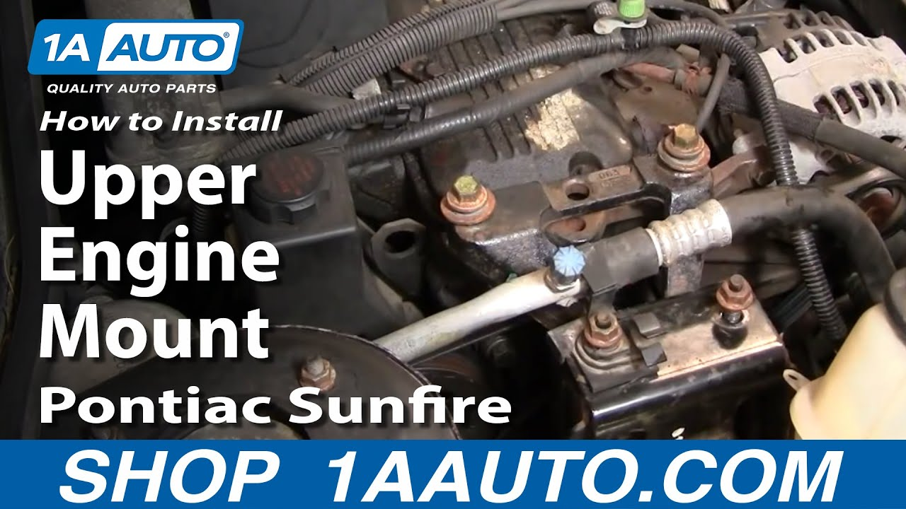 hight resolution of how to replace engine mount 95 02 pontiac sunfire