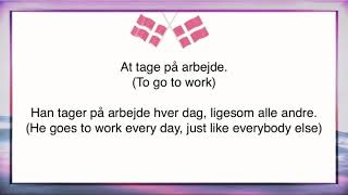 Danish phrasal verbs #1 - At tage, to take, different uses!