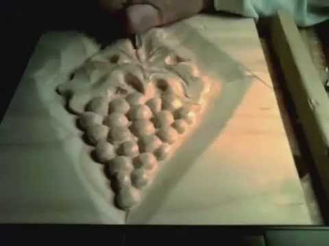 Wood carving grapes part youtube