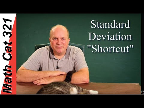 How to Do the Standard Deviation Shortcut (alternate) Formula ✔