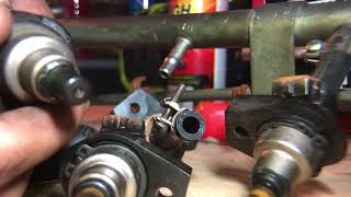 How to fix leaking fuel injectors in a Vl commodore (fix for all cars)