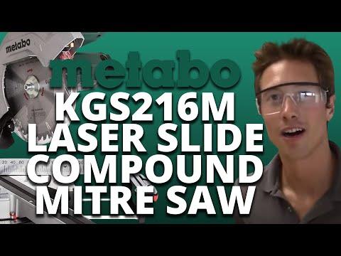 Metabo KGS216M Laser Slide Compound Mitre Saw