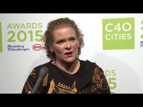 COP21 Interview Series: Stockholm Mayor Karin Wanngård at the C40 Cities Awards in Paris