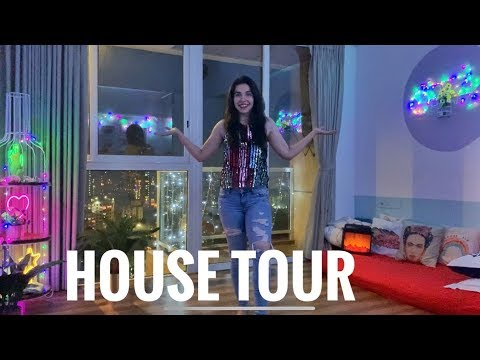 FINALLY Our House Tour! Indian Diwali Home Decoration 2019- ALL LIGHTS OFF! One take video| Heli Ved