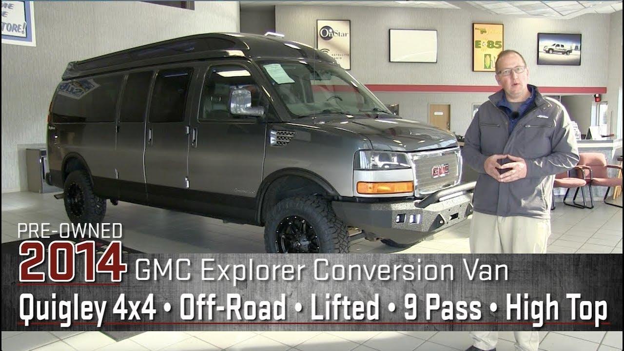 Custom 2014 GMC Off Road Lifted Explorer Conversion Van Quigley 4x4