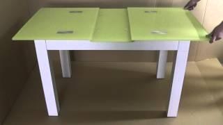 Раздвижной обеденный стол из стекла