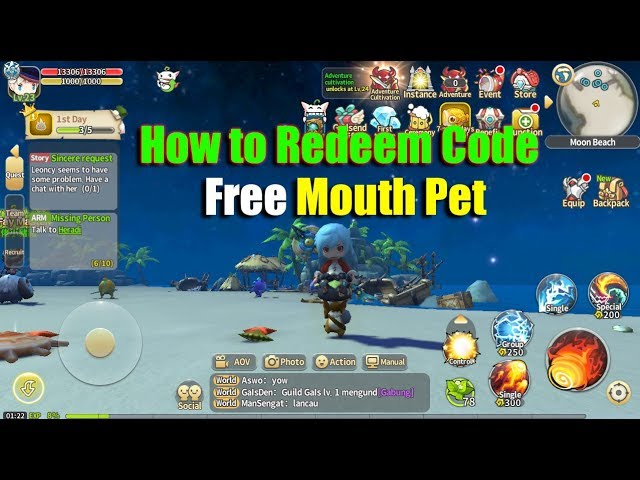 Lumia Saga How to Redeem Code & Free Mouth Pet