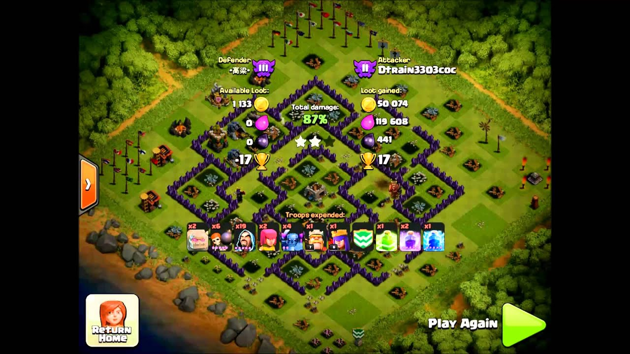 Clash of clans gowipe attack strategy for th9 youtube