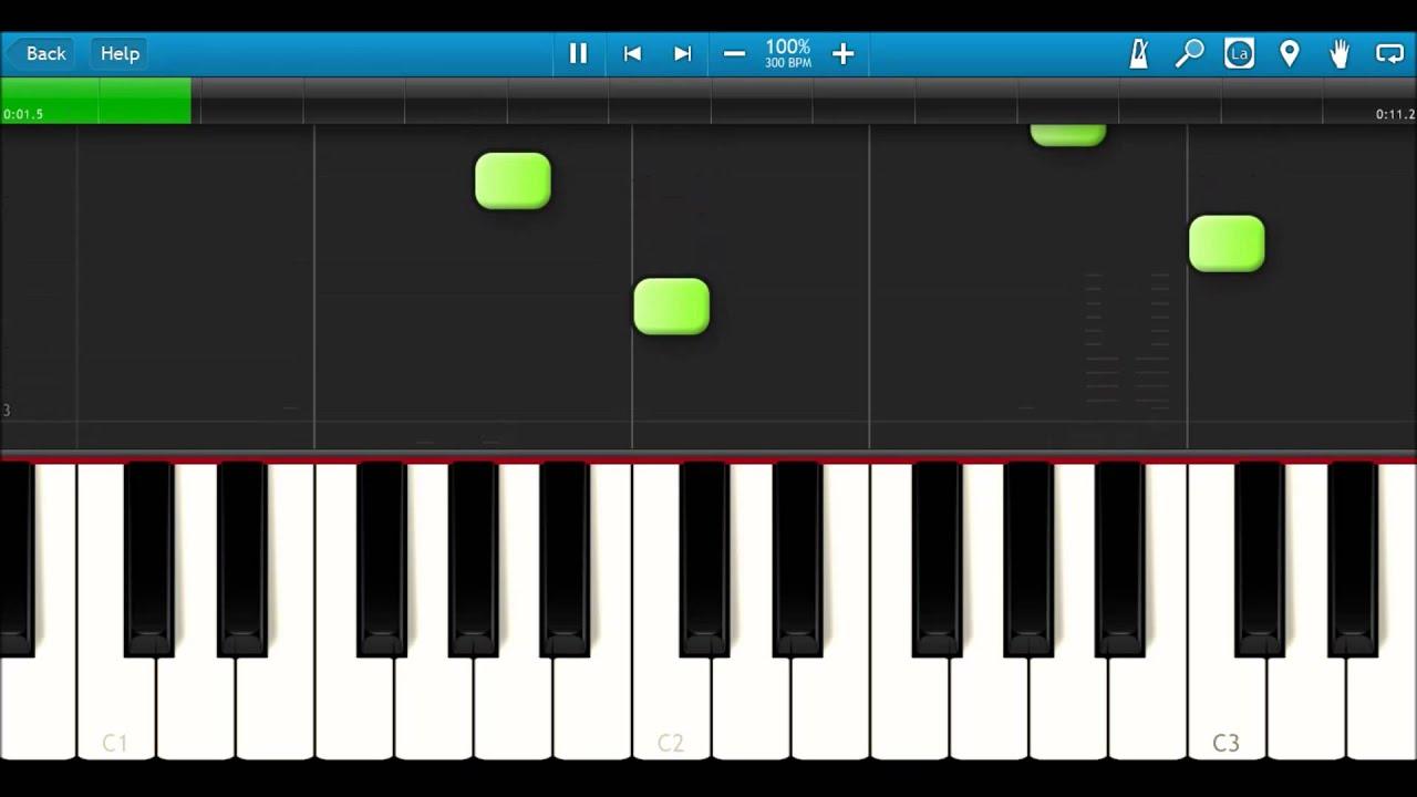 Super Mario Bros  Underground Theme PIANO TUTORIAL