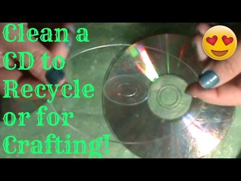 How to Clean a CD for Recycling and Crafting