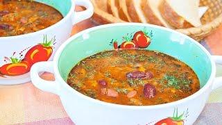 Постный томатный суп с фасолью - очень ароматный и вкусный рецепт!