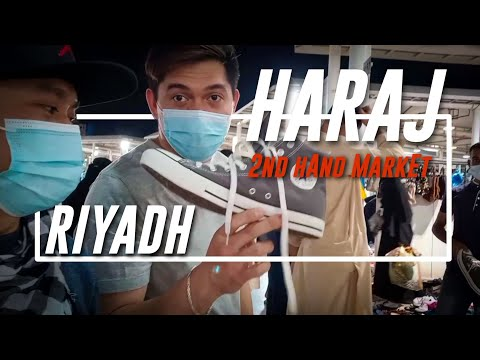 TRAVEL VLOG | 65 Riyals Shoes in NEW Haraj 2nd hand Market |