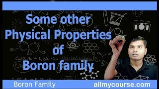 6 Some Other Physical Properties of Boron Family