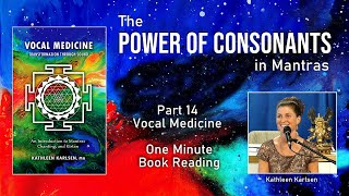 Power of Consonants: Vocal Medicine Book Excerpt #14