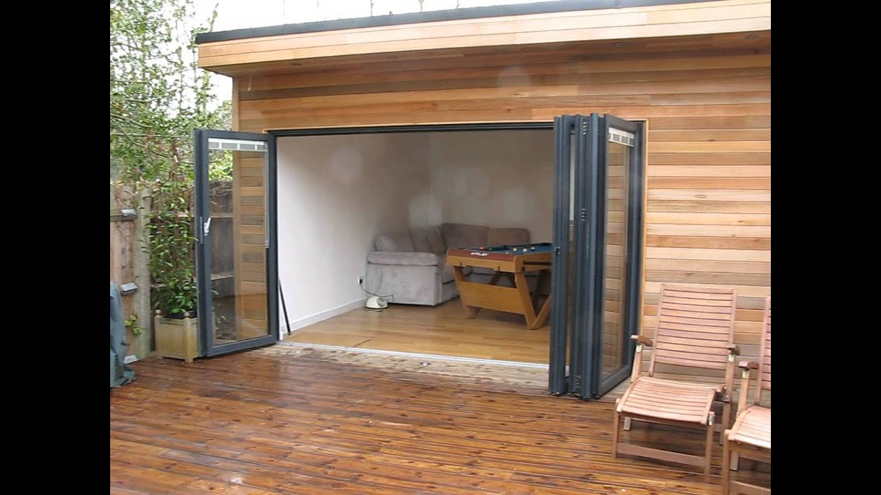 Garden Studio Games Room With Cedar Cladding Youtube
