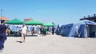 Sisma, la tendopoli di Guglionesi: 150 persone dormono fuori casa