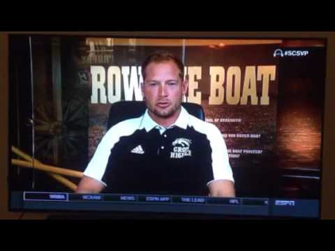 PJ Fleck Rowing the boat with SVP on SportsCenter