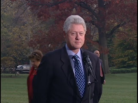Pres. Clinton Re: 2000 Presidential Election (2000)