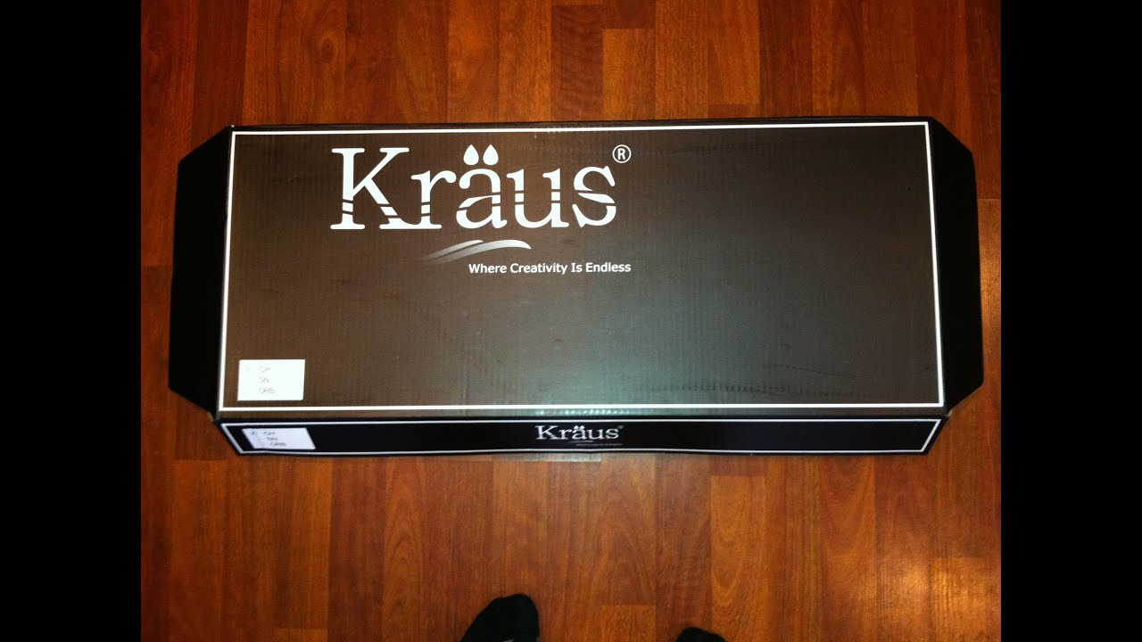 Kraus (KPF-1612) Kitchen Faucet Packaging & Installation Instruction ...