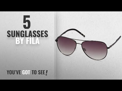 Top 10 Fila Sunglasses [2018]: Fila Gradient Aviator Men's Sunglasses - (SF973461531SG|61|Green