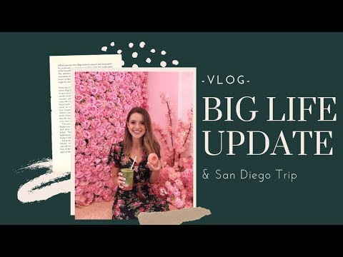 LIFE ANNOUNCEMENT & Trip To San Diego! | VLOG
