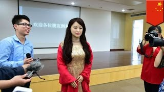 'Robot goddess' unveiled at Chinese university, hot robot modeled after 5 hottest girls - TomoNews