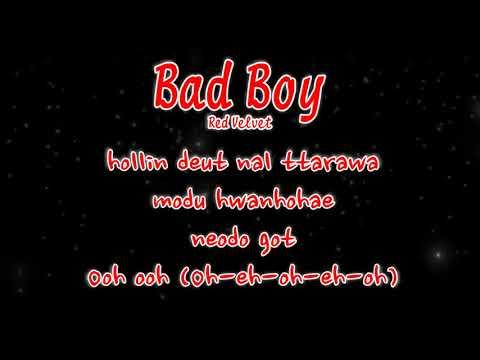 """Red Velvet - """"Bad Boy"""" - Karaoke"""