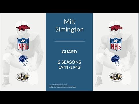 Milt Simington: Football Guard and Placekicker