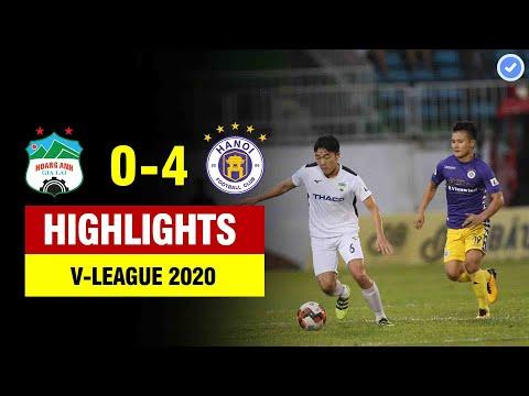 Highlights HAGL 0-4 Hà Nội | Quảng Hải kiến tạo đẳng cấp - Trung vệ Hà Nội hóa CR7 ghi cú đúp