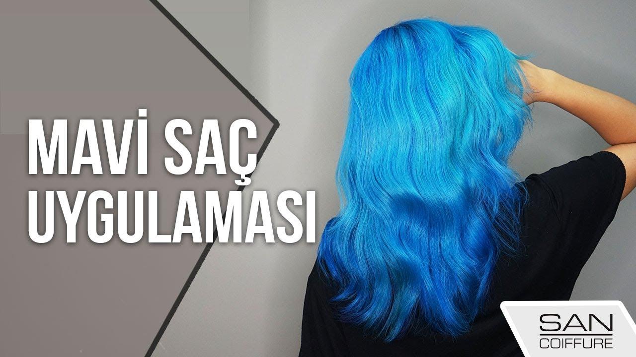 Mavi Renk Saç Nasıl Yapılır Blue Hair Dye Youtube