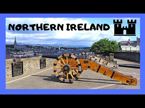 DERRY (LONDONDERRY): Walking on the ancient CITY WALLS (Northern Ireland)