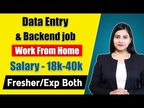 Data Entry And Backend Job   Work From Home   Jobs Opening For Fresher   Without Investment