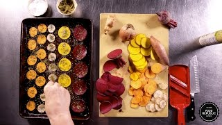 Oven-Roasted Zaatar Vegetable Chips Recipe