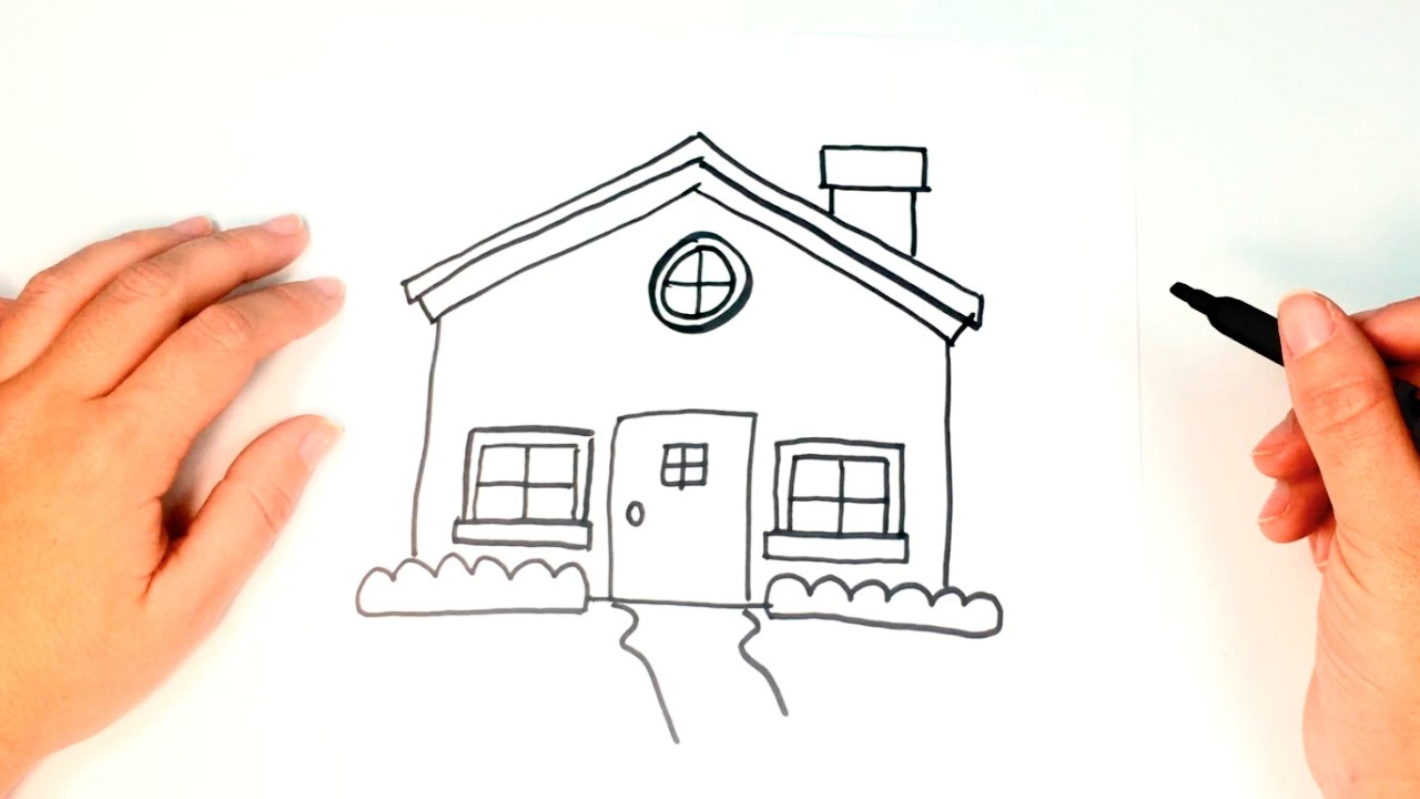 How to draw a House for kids   House Drawing Lesson Step ...