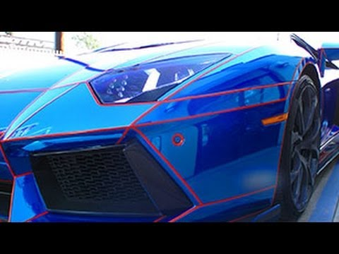 Chrome Blue Lamborghini Aventador Tron Edition Youtube