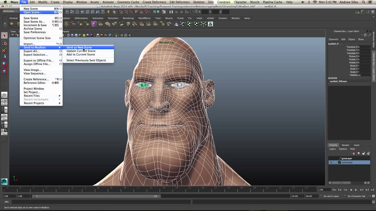 Sending From Maya To Mudbox for Blendshapes