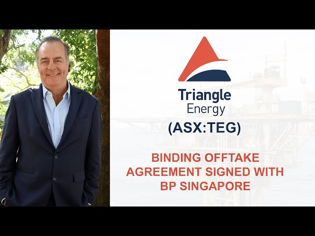 Binding Offtake Agreement Signed with BP Singapore