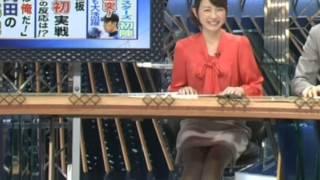 期間限定公開 今も人気の平井理央アナ 美脚アナ.