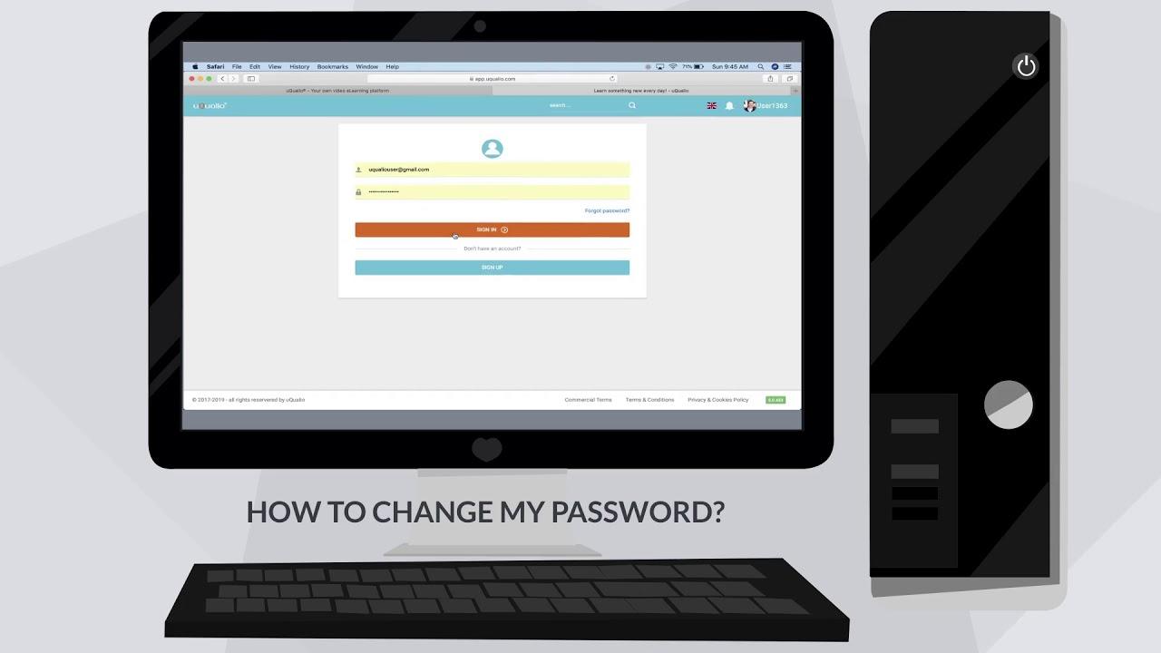 FAQ USER - HOW TO CHANGE MY PASSWORD?
