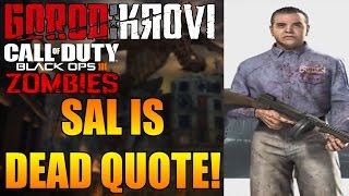 GOROD KROVI EASTER EGG - *NEW* MOB OF THE DEAD QUOTE! SAL DELUCA DEAD! (Black Ops 3 Zombies)