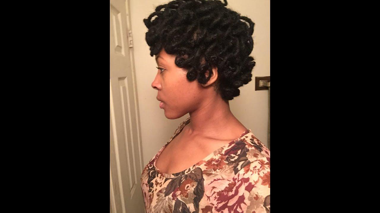 Pin Curl Short Locs