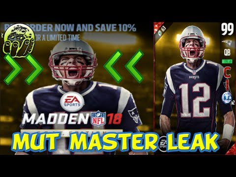 MADDEN 18 MUT MASTER 99 OVR TOM BRADY INFO LEAK | HOW TO COMPLETE MADDEN 18 MUT MASTER TOM BRADY SET