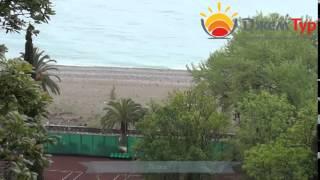 jamtour.org пансионат Колхида  (Гагра, Абхазия) пляж(Пансионат «Колхида» построен в живописной парковой зоне города Гагра. От него до Адлера 25 километров, поэто..., 2014-06-18T05:21:19.000Z)