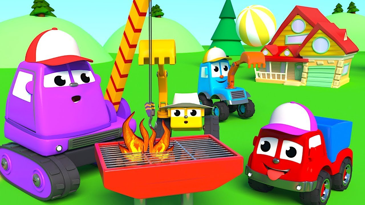 FRIENDS ON WHEELS EP 53 - MIGHTY MACHINES ARE HAVING A BARBECUE BY THE POOL