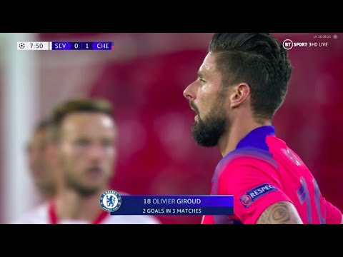 Olivier Giroud vs Sevilla - 4 GOALS IN 1 MATCH 02/12/2020 1080p